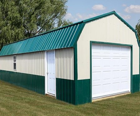 Two toned Lofted storage barn