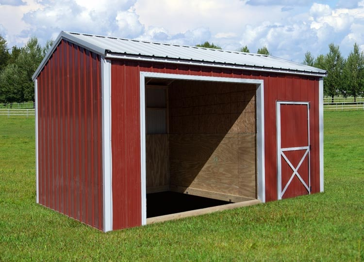Run-in-Shed with tack room