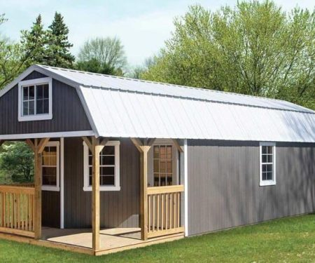 Grey Deluxe Cabin by Mid-America Structures