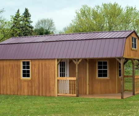 Stained Deluxe Cabin by Mid-America Structures