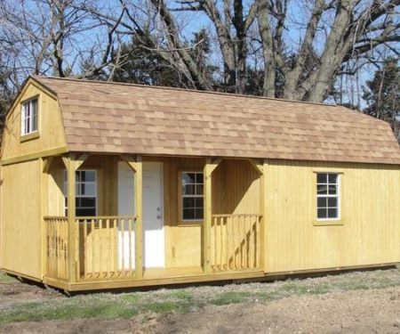 Wooden Lofted Cabin with shingles