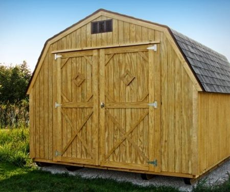 Stained Standard Barn with double doors