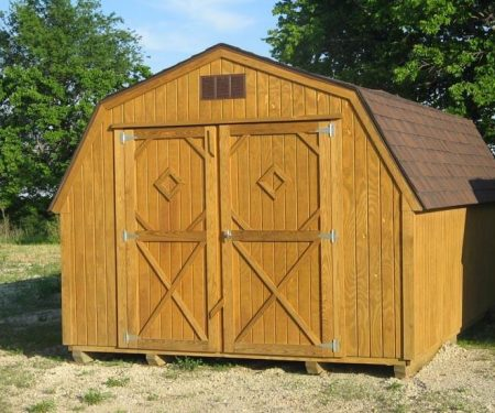 Stained Standard Barn with double door