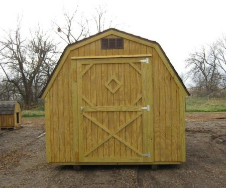 Stained Standard Barn with single door