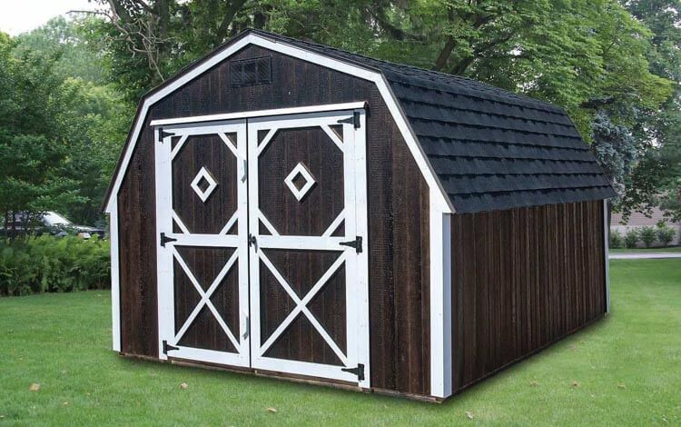 Painted Standard Barn with double doors