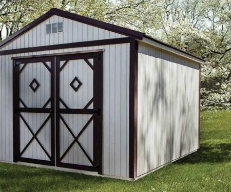 White Utility Shed by Mid-America Structures