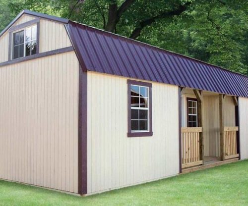 Painted Lofted Cottage with metal roof